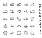 transport cool vector icons 2 | Shutterstock .eps vector #421179004