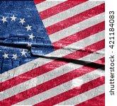 america flag  | Shutterstock . vector #421184083