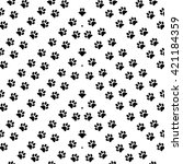 animal footprint seamless... | Shutterstock .eps vector #421184359
