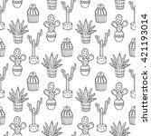 cactus seamless pattern... | Shutterstock .eps vector #421193014