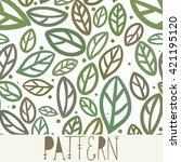 vector simple seamless pattern... | Shutterstock .eps vector #421195120