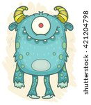 cartoon monster | Shutterstock .eps vector #421204798