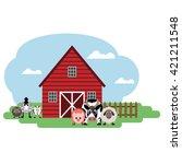 vector illustration of farm