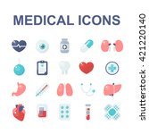 medical icons set. vector... | Shutterstock .eps vector #421220140