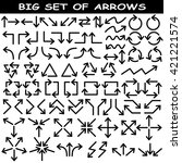 big set of arrows. black... | Shutterstock .eps vector #421221574