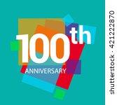 100th years anniversary logo ... | Shutterstock .eps vector #421222870