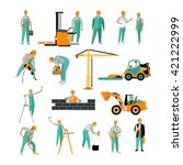 vector set of construction... | Shutterstock .eps vector #421222999
