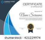 vector certificate template. | Shutterstock .eps vector #421229974