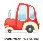 cartoon tractor   Shutterstock .eps vector #421230100