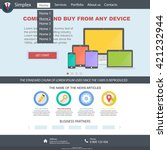 flat colorful design website....