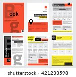 set of flyer  brochure design... | Shutterstock .eps vector #421233598