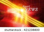 graphical digital sport news... | Shutterstock . vector #421238800