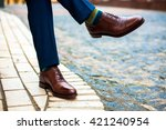 men mens shoes street city  | Shutterstock . vector #421240954