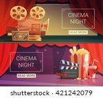 cinema cartoon horizontal... | Shutterstock .eps vector #421242079