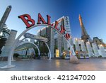 las vegas  usa    may 13  2011  ... | Shutterstock . vector #421247020