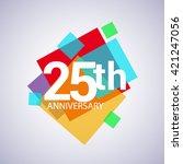 25th years anniversary logo ... | Shutterstock .eps vector #421247056