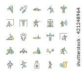 fitness bold vector icons  4 | Shutterstock .eps vector #421248964