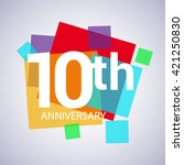 10th years anniversary logo ... | Shutterstock .eps vector #421250830