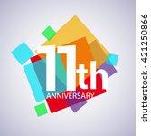 11th years anniversary logo ... | Shutterstock .eps vector #421250866