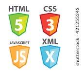 vector of web development... | Shutterstock .eps vector #421255243