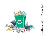 littering waste that have been... | Shutterstock .eps vector #421257463