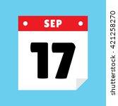 calendar icon flat september