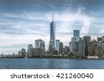 Skyline Of Lower Manhattan Of...