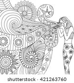 doodles design of a... | Shutterstock .eps vector #421263760