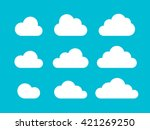set of cloud icons in trendy... | Shutterstock .eps vector #421269250