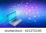 global internet concept   Shutterstock . vector #421272130