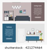 two horizontal banners for web... | Shutterstock .eps vector #421274464