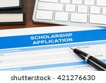 scholarship application form... | Shutterstock . vector #421276630