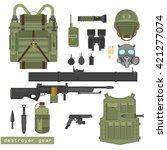 military equipment vector... | Shutterstock .eps vector #421277074