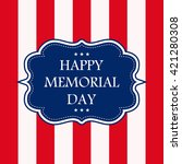 happy memorial day   stars and