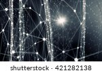 connected lines background | Shutterstock . vector #421282138
