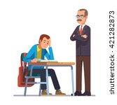 professor or teacher looking... | Shutterstock .eps vector #421282873