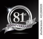 81st anniversary logo with blue ... | Shutterstock .eps vector #421283020