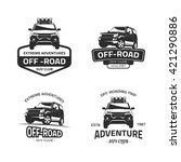 Set Of Four Off Road Suv Car...