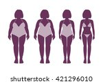 slimming woman in a swimsuit in ... | Shutterstock .eps vector #421296010