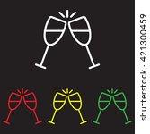 web line icon. glasses of... | Shutterstock .eps vector #421300459