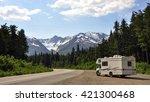 motorhome above haines alaska | Shutterstock . vector #421300468