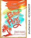 the best beach party. hand...   Shutterstock .eps vector #421306039