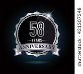 58th anniversary logo with... | Shutterstock .eps vector #421307248