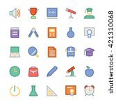education vector icons 1 | Shutterstock .eps vector #421310068