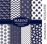 set of marine and nautical... | Shutterstock .eps vector #421311550