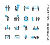 meeting icons vector | Shutterstock .eps vector #421313410