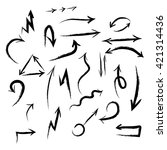 vector hand drawn arrows set on ... | Shutterstock .eps vector #421314436
