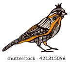 ornamental bird in vintage style | Shutterstock .eps vector #421315096