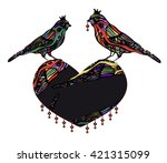 ornamental bird in vintage style | Shutterstock .eps vector #421315099