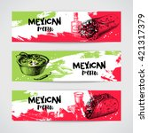mexican traditional food menu... | Shutterstock .eps vector #421317379